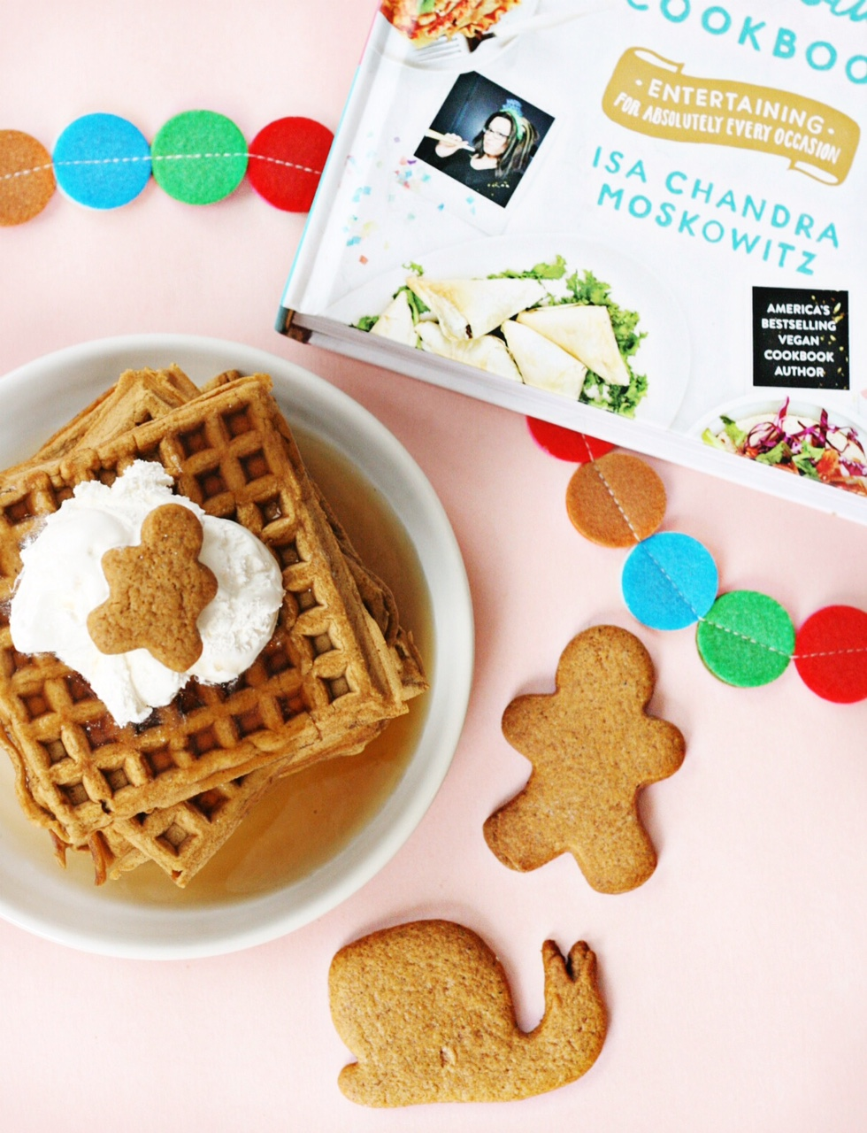 the-superfun-times-vegan-holiday-cookbook-gingerbread-waffles-and-cookies