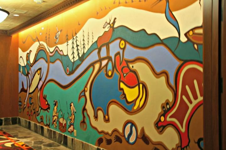 casino rama lobby mural