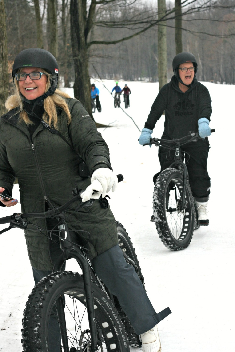 lgm linda and julie biking