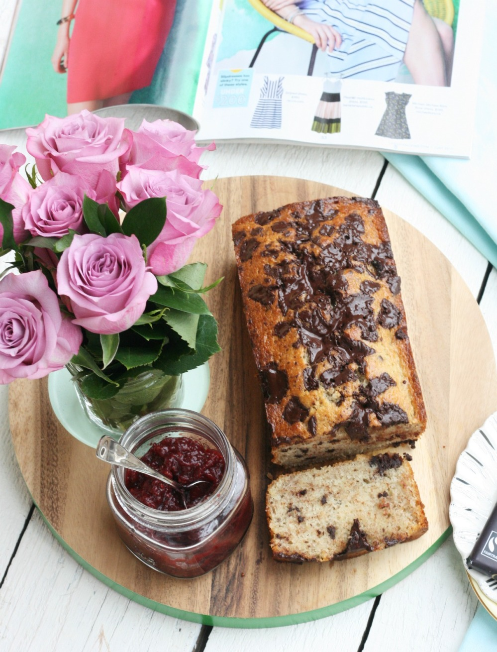 Green and Black's Farmhouse Chocolate Banana Bread full loaf try small things