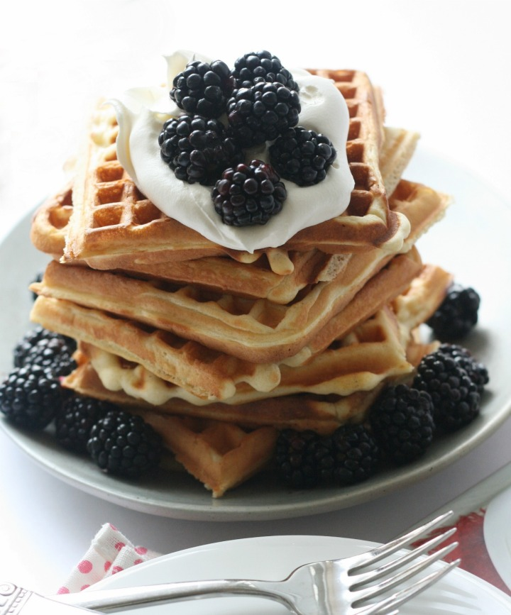 Pancakes and Waffles (lemon waffles)