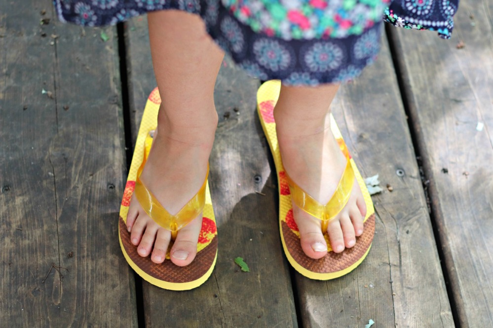 Panago Pizza flip flops little one