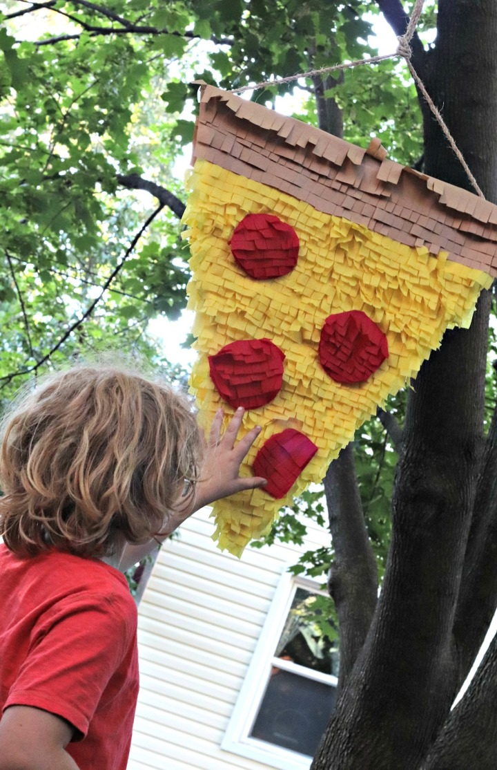 Panago Pizza pinata should be a little higher