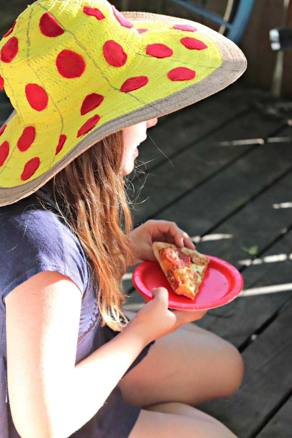 Panago Pizza pizza hat and pepperoni slice