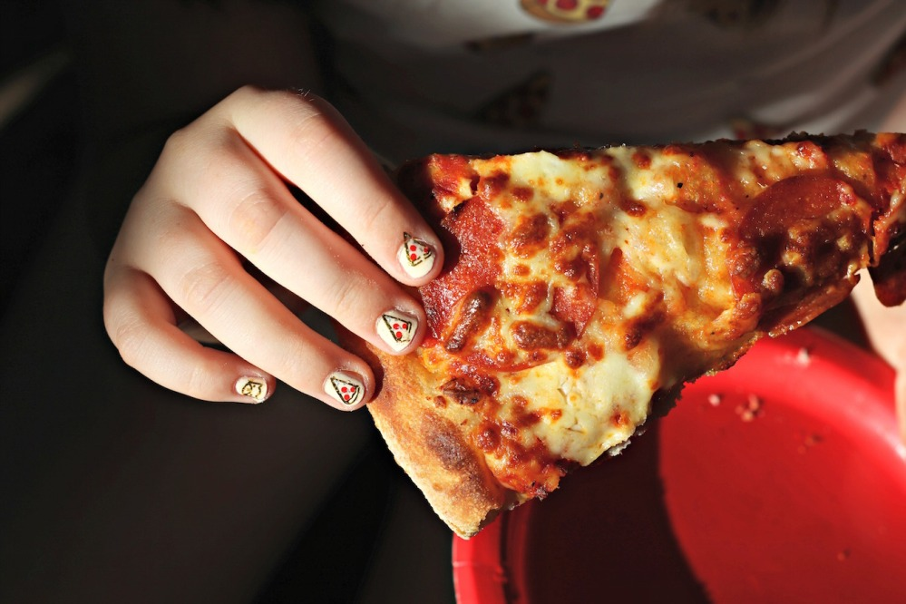 Panago Pizza pizza nails dark