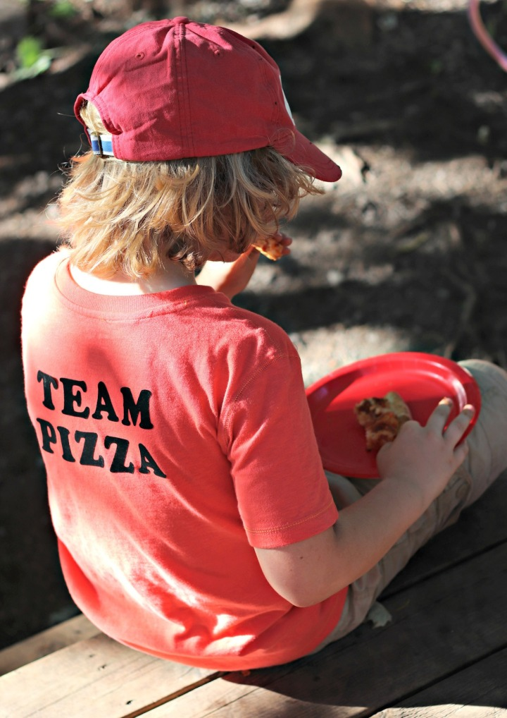 Panago Pizza team pizza eating