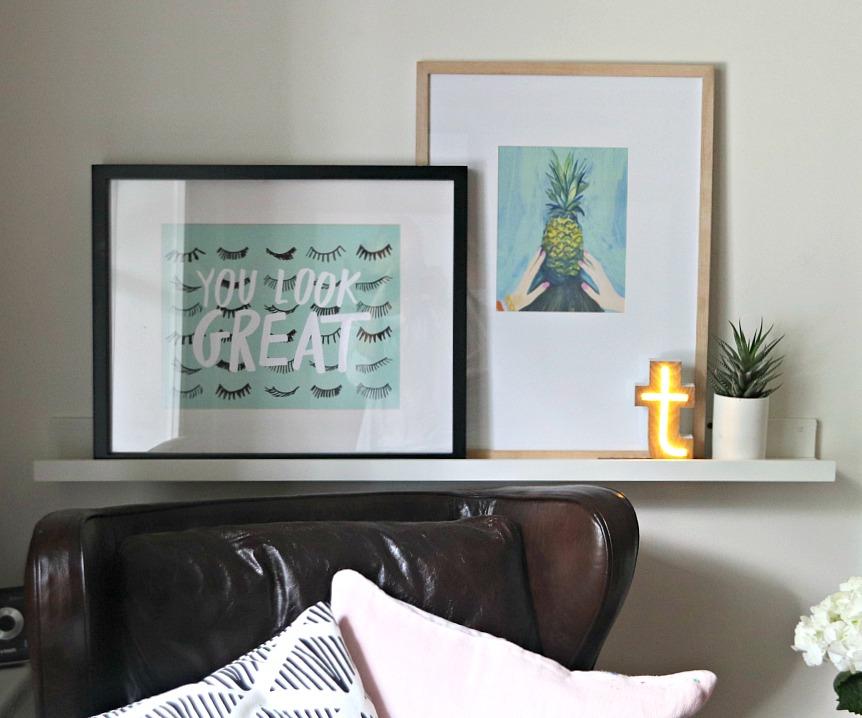 Thimblepress shelf and art prints