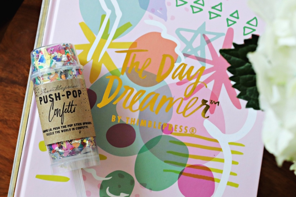 Thimblepress The Day Dreamer Push-Pop confetti close up