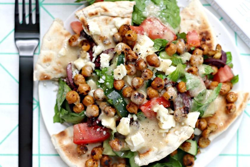 Kale and Caramel Chopped Greek Salad feature image