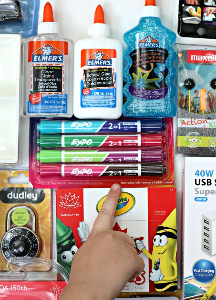 Staples Canada BTS 2017 Expo Dry Erase markers and Elmer's School Glue