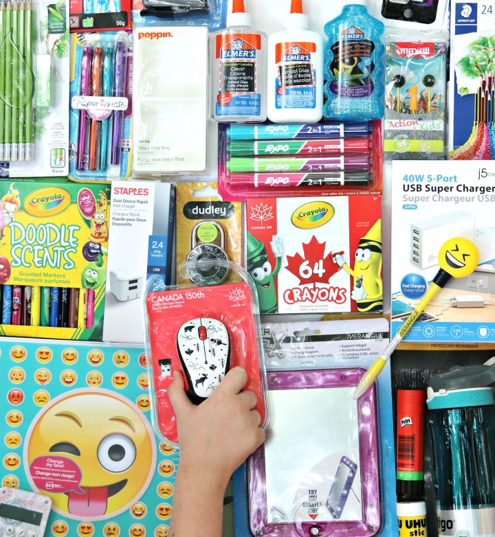 Staples Canada BTS 2017 school supplies
