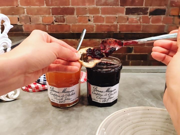 Bonne Maman Fauna Ottawa peach jam and cherry jam