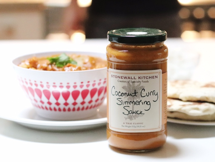 Stonewall Kitchen Coconut Curry Simmering Sauce jar for Gourmet Trading