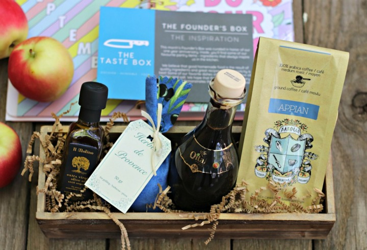 The Taste Box The Founder's Box September 2017 close up