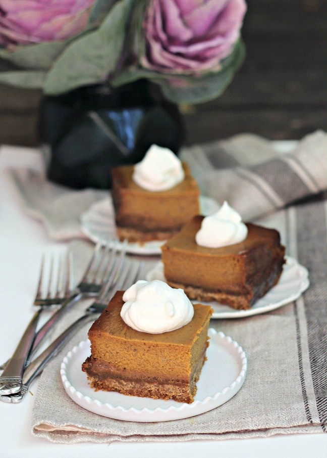 dulce de leche pumpkin pie squares from Sheet Pan Suppers Vegetarian final