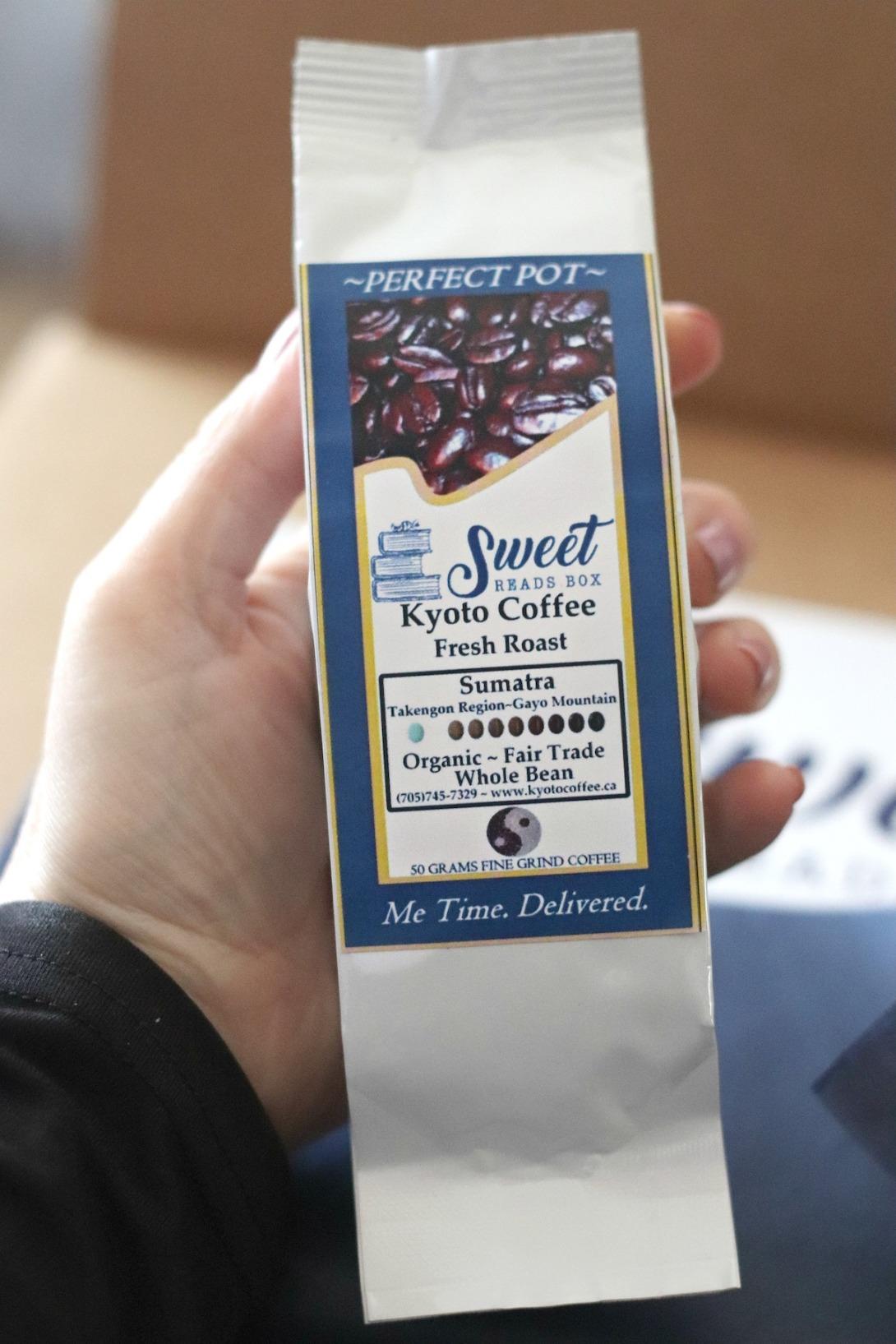 October Sweet Reads Box Kyoto Coffee Fresh Roast