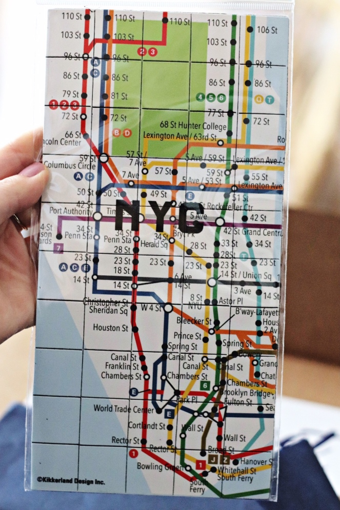Sweet Reads Box October 2017 New York magnetic map