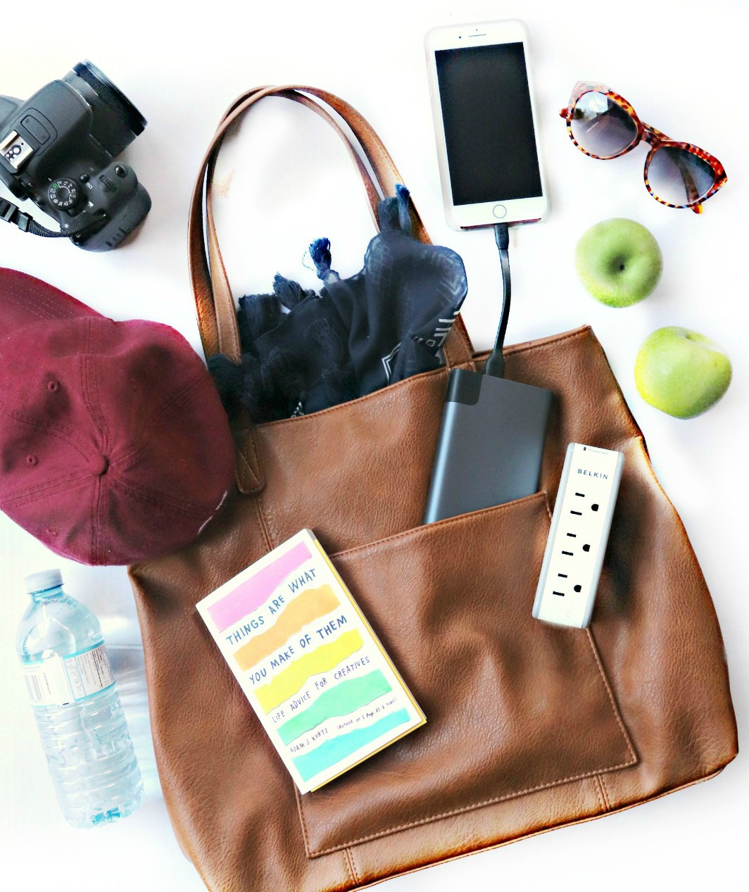 Travel Essentials Belkin power bank charger and swivel plug 2