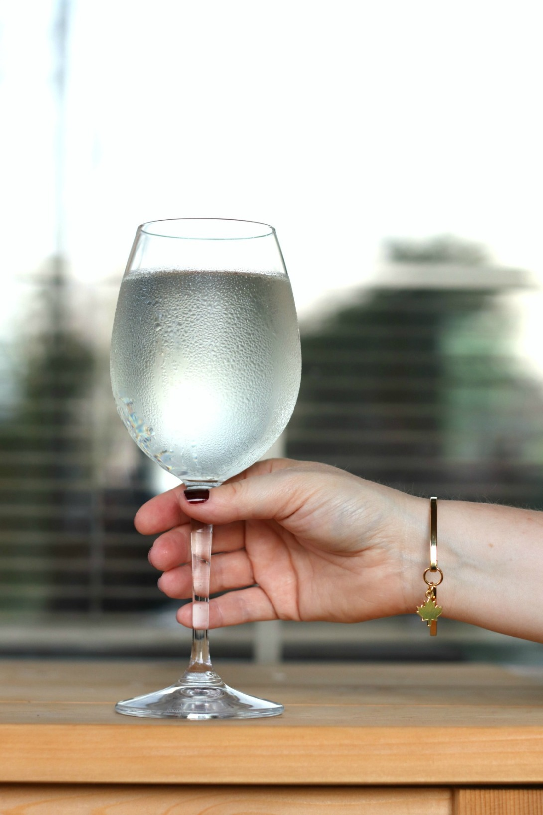 Travel essentials Foxy Originals Canada 150 bangle with wine glass