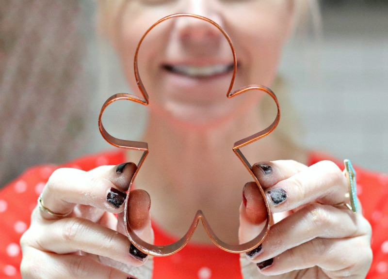 Gingerbread Boy cookie cutter close up