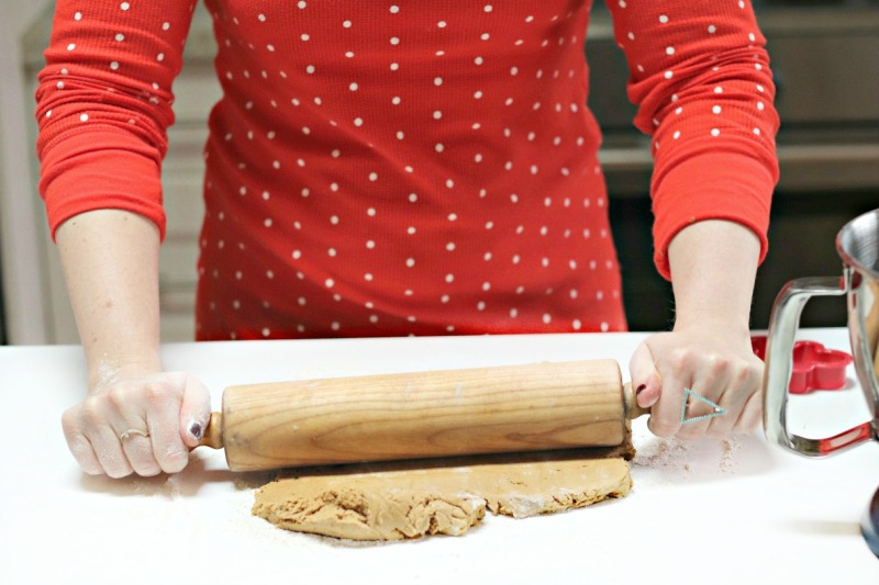 Gingerbread Boys rolling dough 4