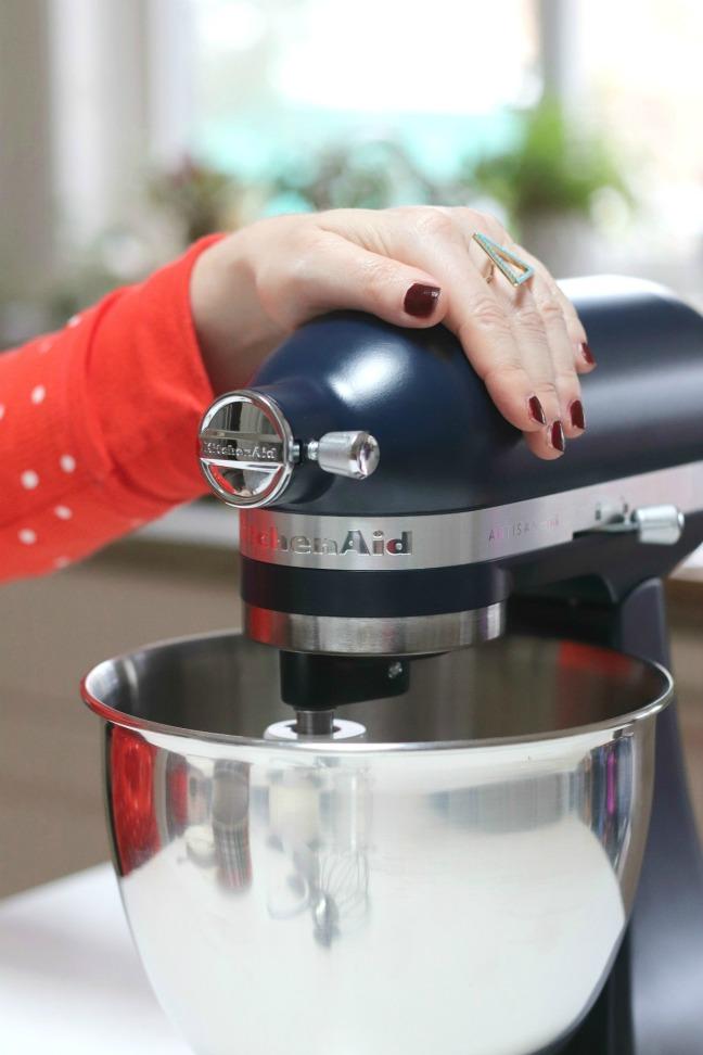 KitchenAid ARTISAN mixer motor head and bowl vertical