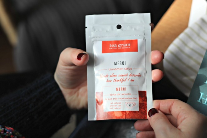 Sweet Reads Box November 2107 Merci Tea Tea Gram Cinnamon Spice