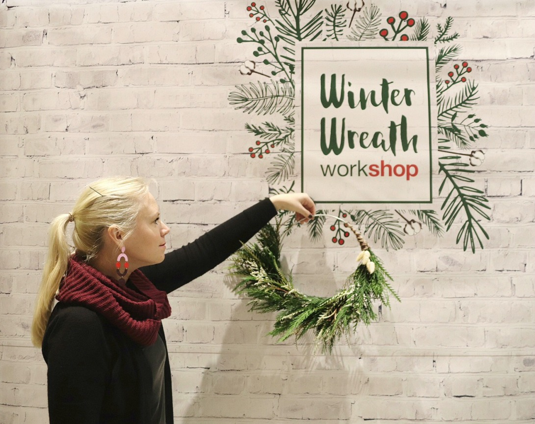 PDO Winter Wreath Workshop backdrop