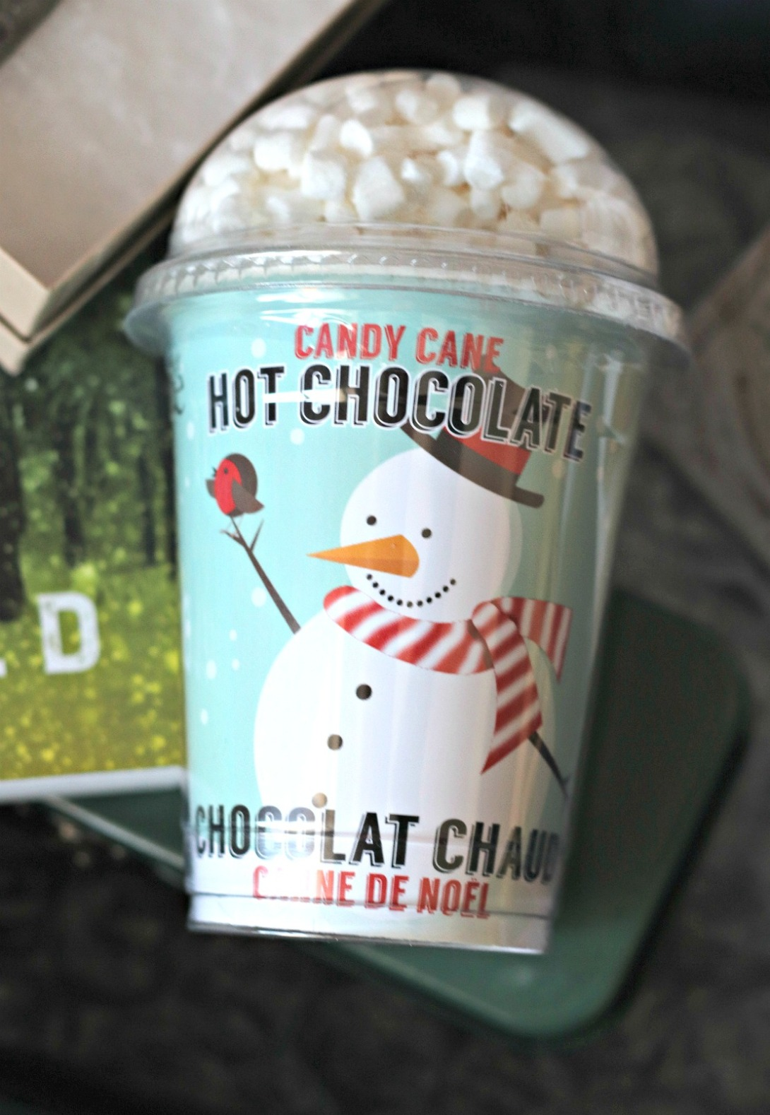 Sweet Reads Box Cany Cane Snowman Hot Chocolate
