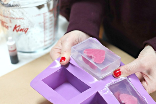 DIY valentine soap popping free from old