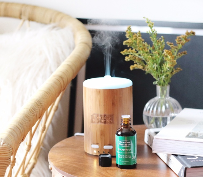 Thursday Plantation eucalyptus oil and diffuser brighter