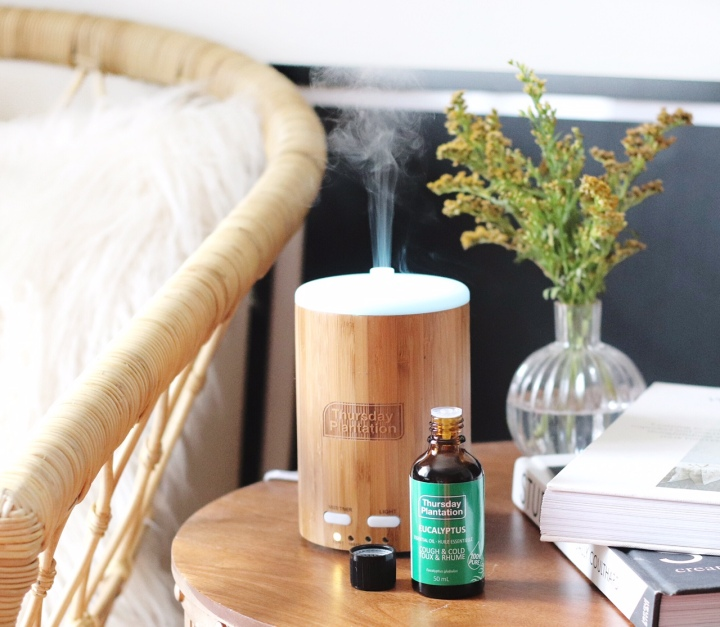 Thursday Plantation eucalyptus oil and diffuser brighter