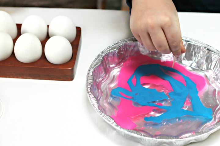 Two Oceans DIY marbled eggs swirl with toothpick smaller warmer