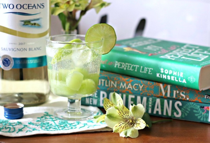 Two Oceans Green Sangria close up horizontal smaller brighter