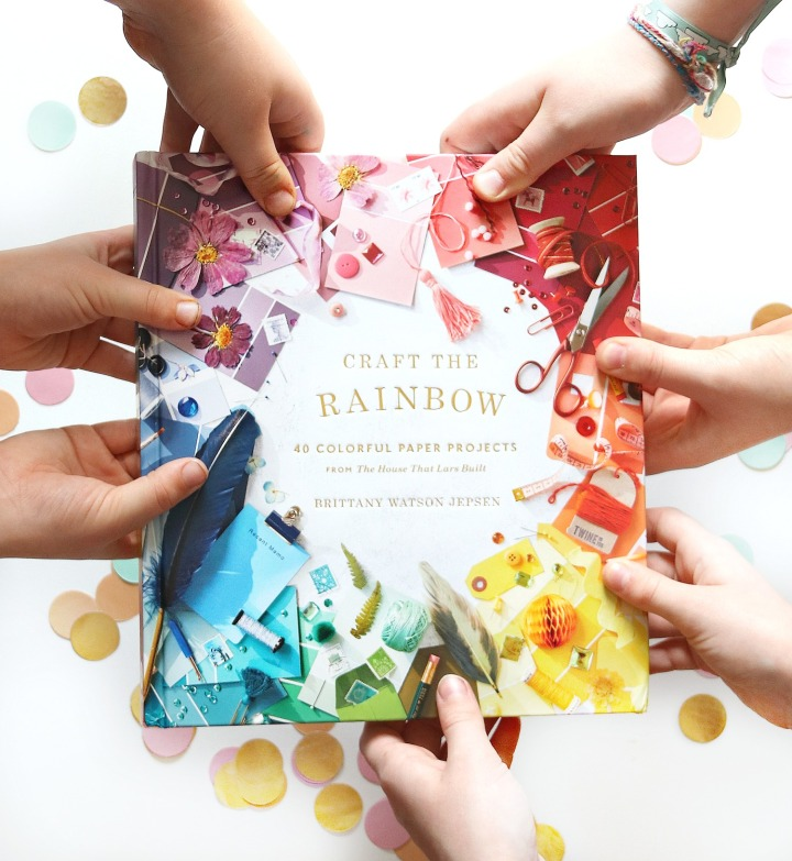 Craft the Rainbow: 40 Colorful Paper Projects from The House That Lars Built + Win a copy!