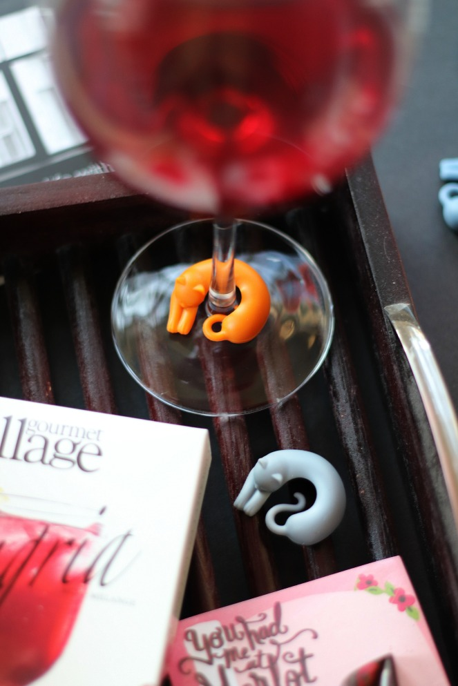 Sweet Reads Box April 2018 Wine Lives wine markers close up