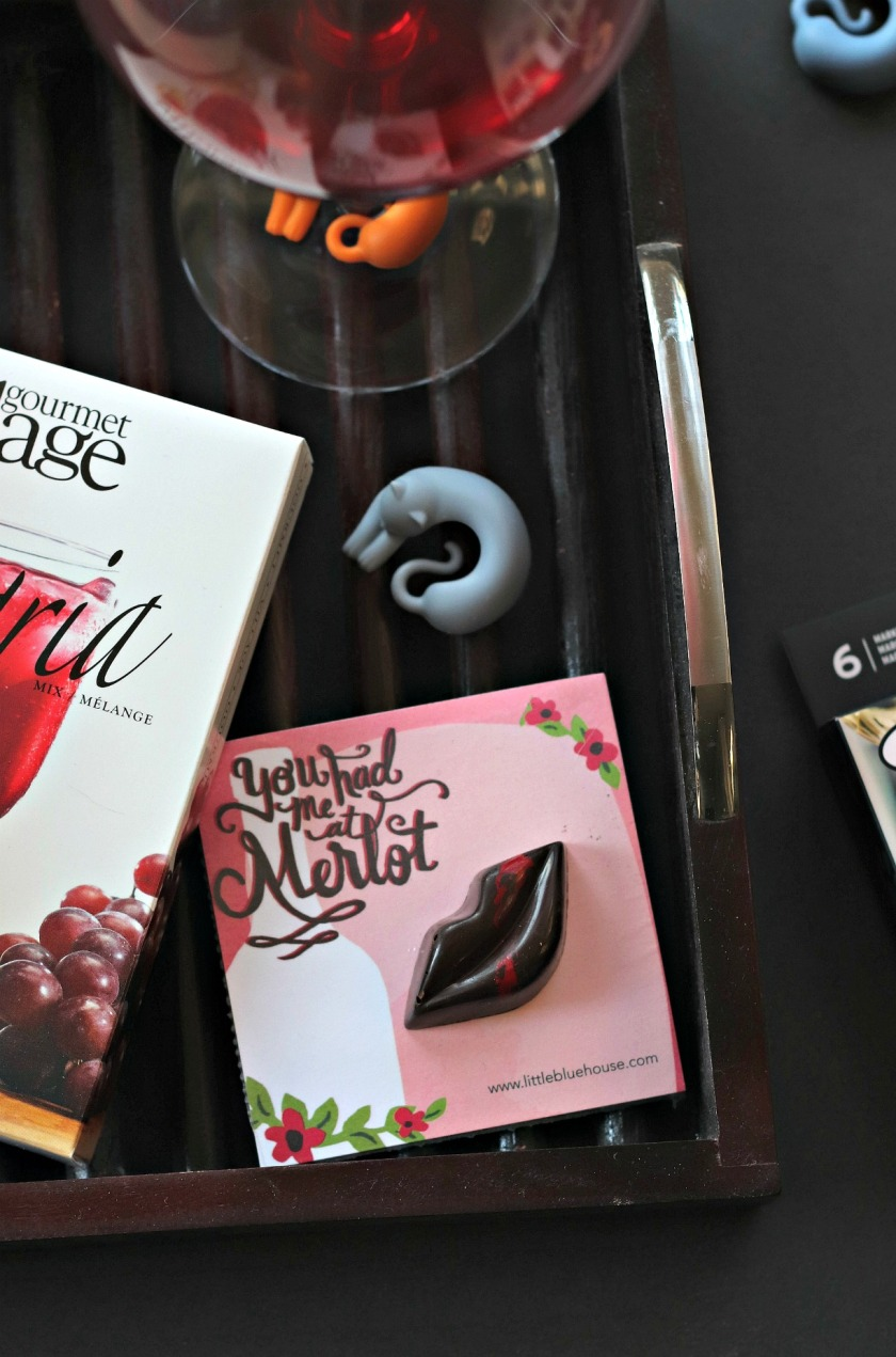 Sweet Reads Box April 2018 You Had Me At Merlot notepad and chocolate truffle