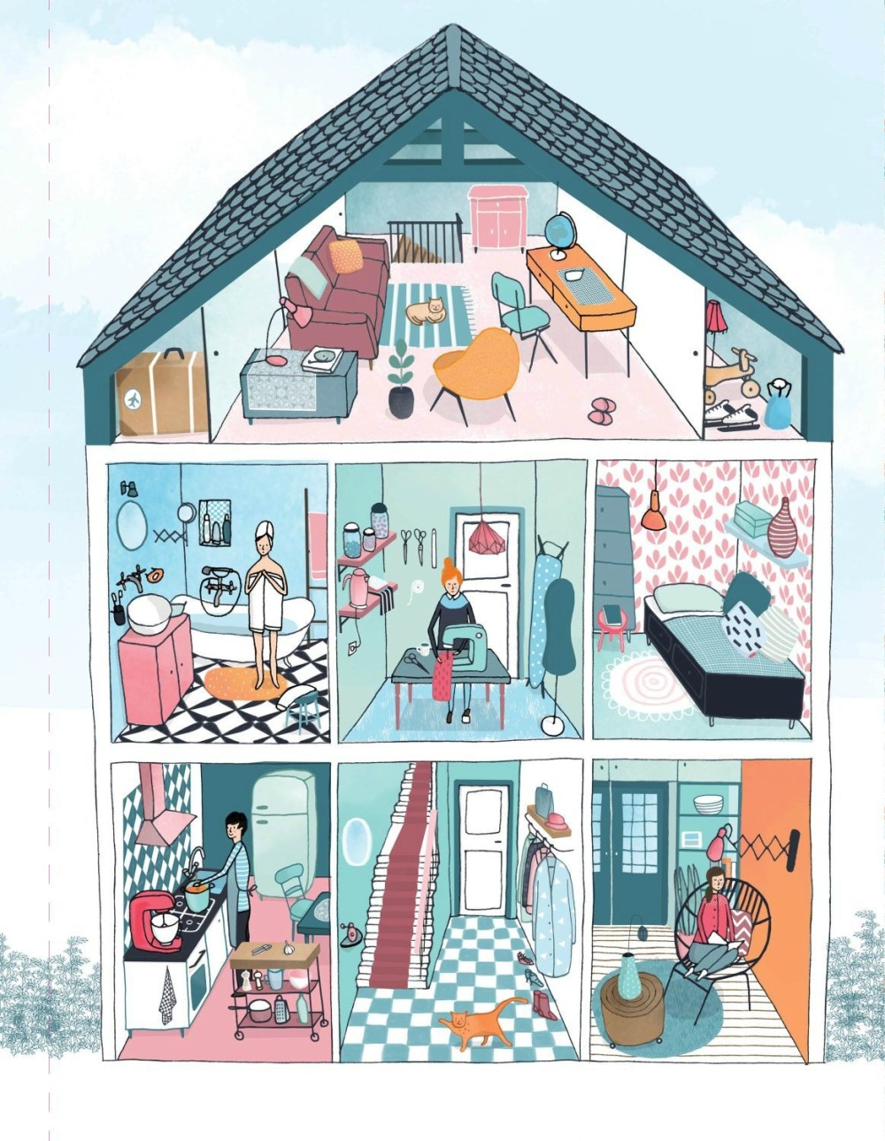 50 Ways to Draw Your Beautiful Ordinary Life house illustration