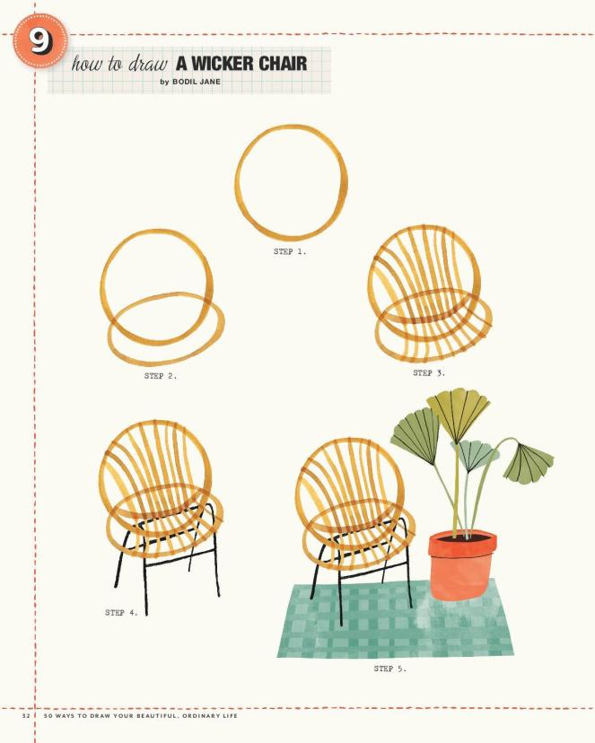 9 Wicker Chair