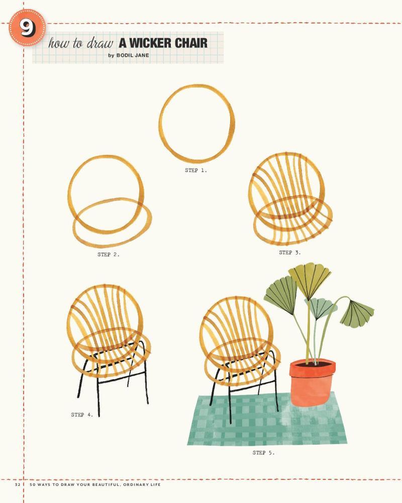 9 Wicker Chair
