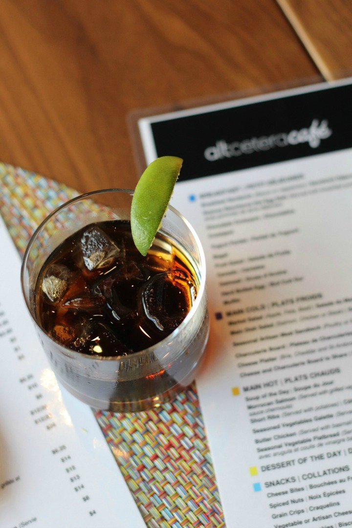 Alt Hotel altceteracafe diet coke on table