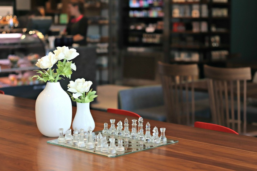 Alt Hotel chess set in lobby