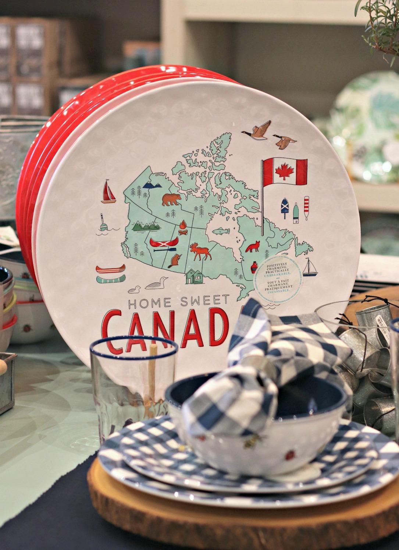 Indigo Innes Home Sweet Canada melamine plates