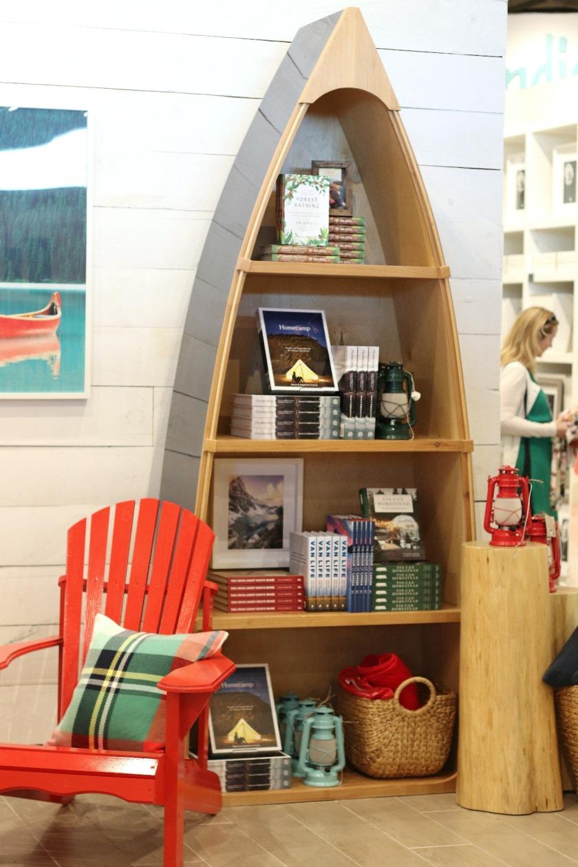 Indigo Innes Muskoka chair and bookcase