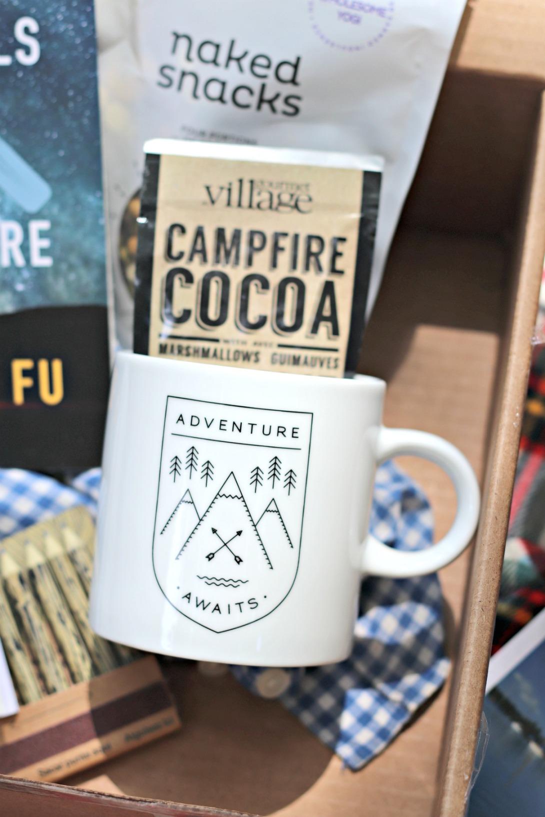 Sweet Reads Box June 18 Gourmet du Village campfire cocoa and Danica Adventure Awaits mugs
