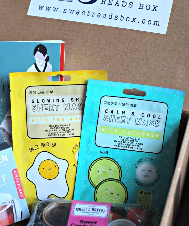 Sweet Reads Box July 2018 SuGu Beauty face masks