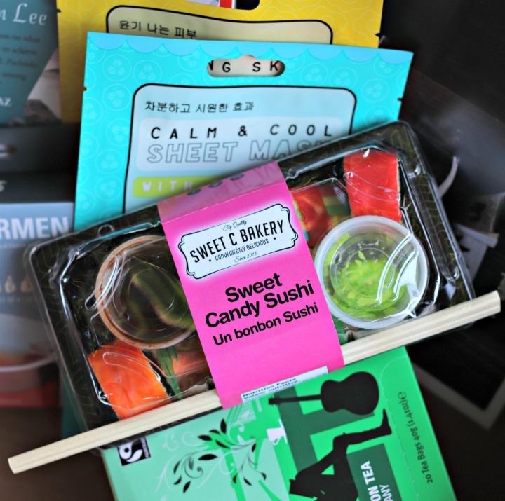 Sweet Reads Box July 2018 Sweet Candy Sushi
