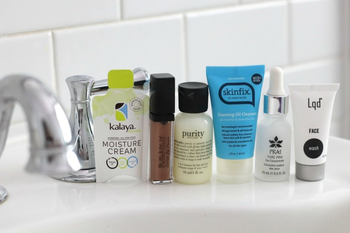 TSC July Beauty Tote variety of cosmetic products