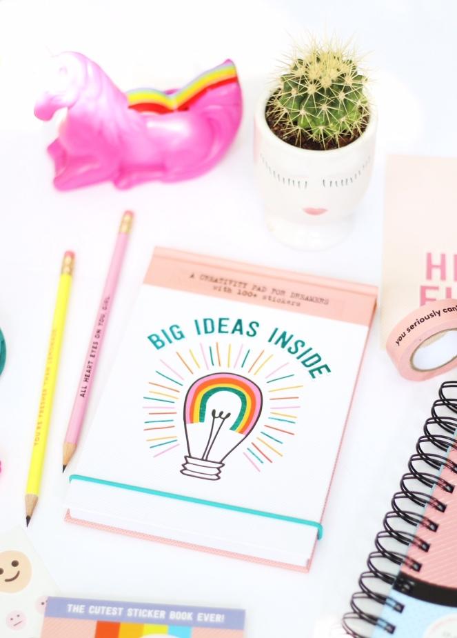 Pipsticks X Workman Big Ideas Inside notekeeper notepad