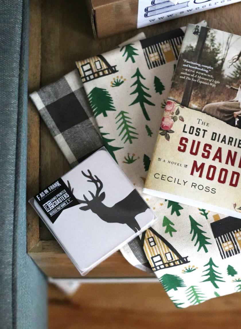 Sweet Reads Box August 2018 F as in Frank deer coasters